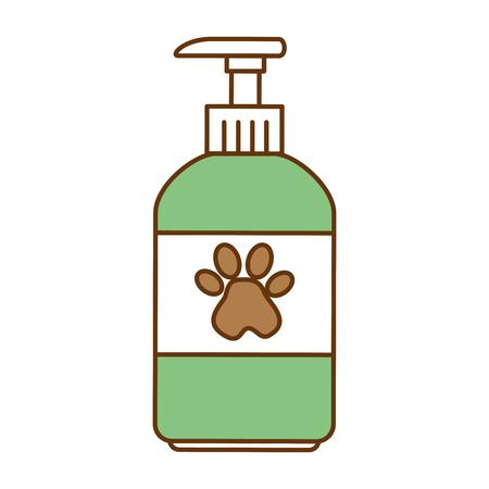 Haustier Shampoo Flasche Symbol Vektor-Illustration , Design , Standard-Bild - 96057711