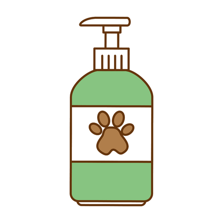 Pet shampoo bottle icon vector illustration design