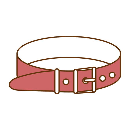 Mascot necklace collar for pet isolated icon vector illustration design