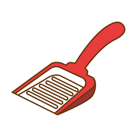 Shovel to collect pet waste vector illustration design