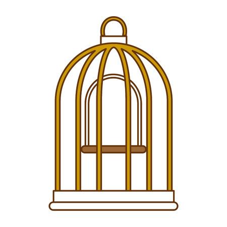 Ontwerp van de het pictogram vectorillustratie van de kooivogel het lege