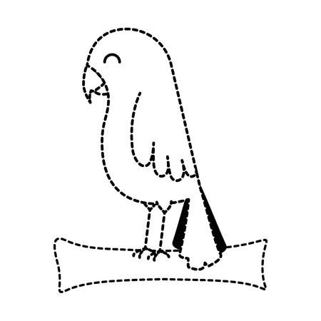 Pájaro lindo aislado icono de ilustración vectorial de diseño Foto de archivo - 96072186