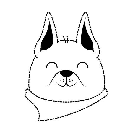 Cute dog mascot head vector illustration design 向量圖像