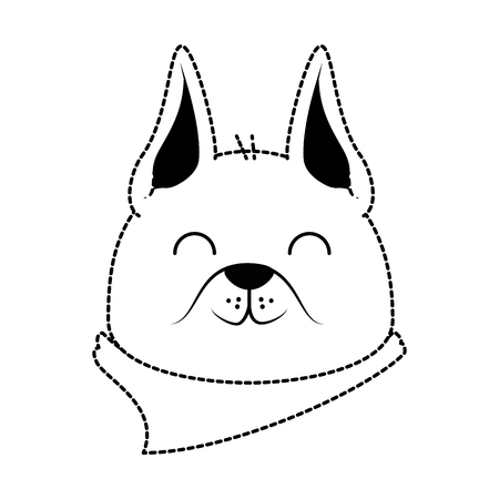 Cute dog mascot head vector illustration design Illustration