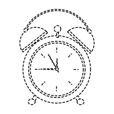 clock alarm time wake up symbol vector illustration sticker image design