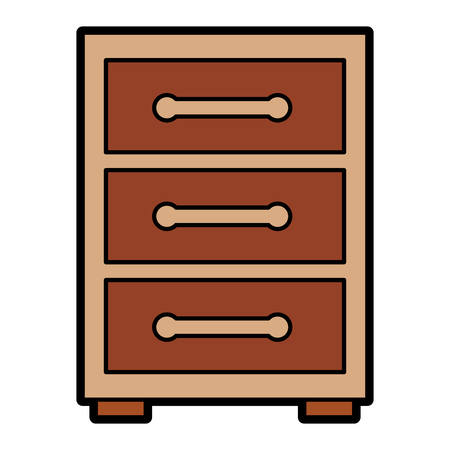 night table or archive icon image vector illustration design Stock Illustratie