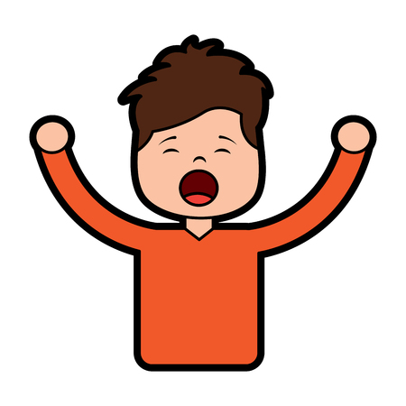 Man screaming icon image vector illustration design