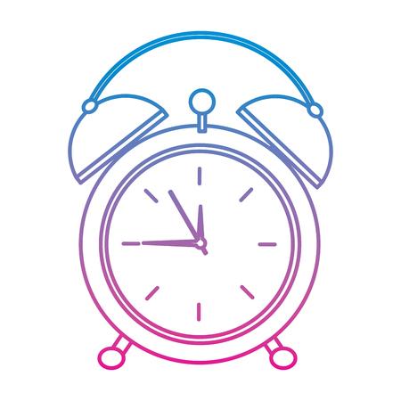 clock alarm time wake up symbol vector illustration