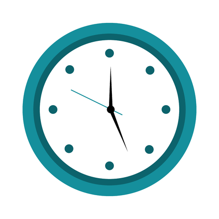 round clock time hour object icon vector illustration