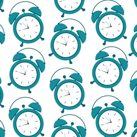 seamless pattern clock alarm, wake up vector illustration 写真素材 - 96061192