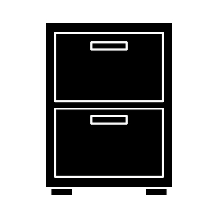 Night table or archive icon image vector illustration design black and white Vettoriali