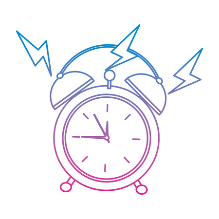 Hand drawn round clock alarm wake up ring icon vector illustration Illustration