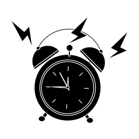Alarm clock ringing icon image vector illustration design