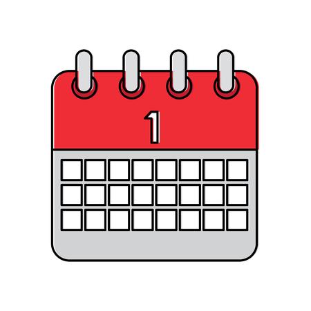 Calendar vector illustration Ilustração