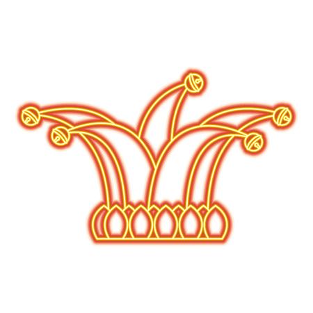 De narrenhoed met klokken kleedt grappige vectorillustratie Vector Illustratie