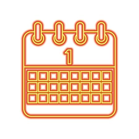 Celebration calendar first planning date vector illustration Stock Vector - 96069697