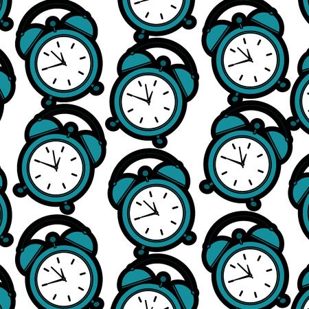alarm clock pattern image vector illustration design  Stock Illustratie