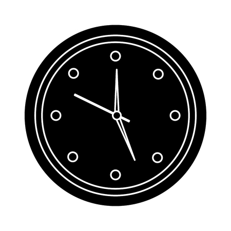 wall clock icon image vector illustration design  black and white