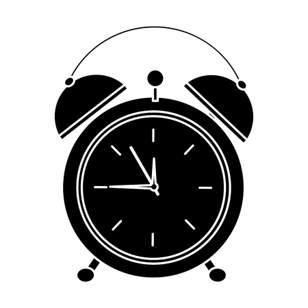 alarm clock icon image vector illustration design  black and white