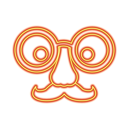 Funny fake mask made of glasses mustache and nose vector illustration