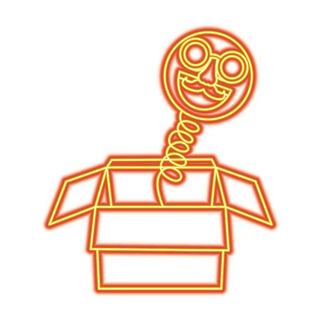 Joke box vector illustration Ilustração