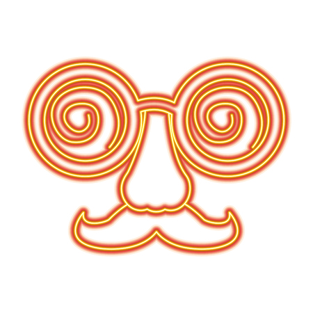 Crazy glasses mustache nose mask carnival vector illustration Illustration