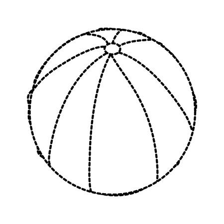 Wasserball Gummi Spielzeug spielen Bild Vektor Illustration Aufkleber Design Standard-Bild - 96073216