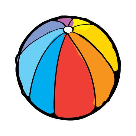 Wasserball Gummi Spielzeug spielen Bild Vektor-Illustration Standard-Bild - 96073231
