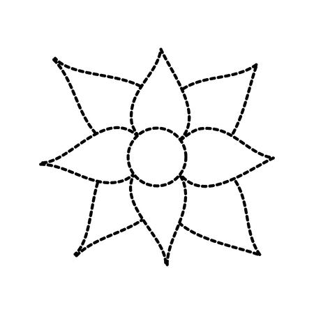 Christmas flower poinsettia decoration traditional vector illustration sticker design