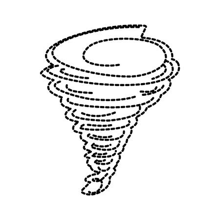 Tornado season wind storm weather image vector illustration sticker design Illustration