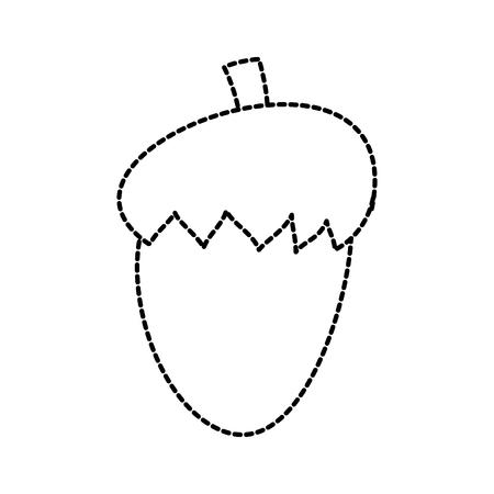 Acorn nut fruit food natural icon vector illustration sticker design 일러스트
