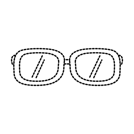sunglasses fashion summer accessory trendy vector illustration sticker design Illustration