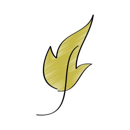 葉の葉植物学フロンド自然アイコンベクトルイラスト描画デザイン色  イラスト・ベクター素材