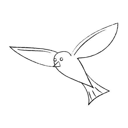 비행 바다 흰 새 갈매기 동물 벡터 일러스트 스케치 디자인