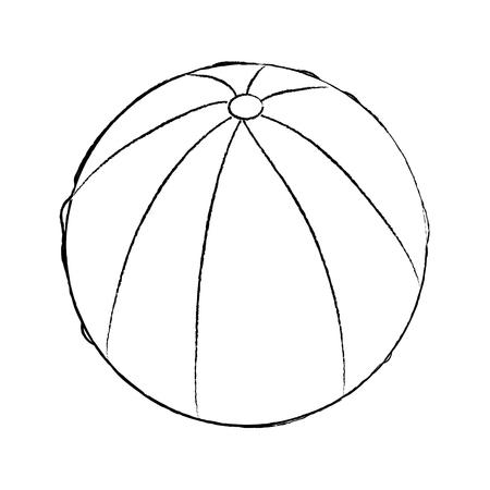 Wasserball Gummi Spielzeug spielen Bild Vektor Illustration Skizze Design Standard-Bild - 96071154
