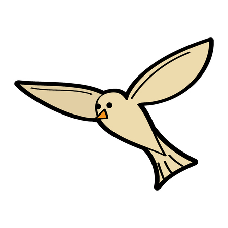 Flying seagull vector illustration