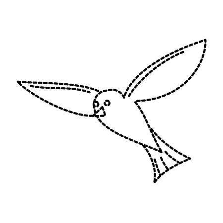 Flying Sea White Bird Möwe Tier Tier Vektor Aufkleber Design Standard-Bild - 96078761