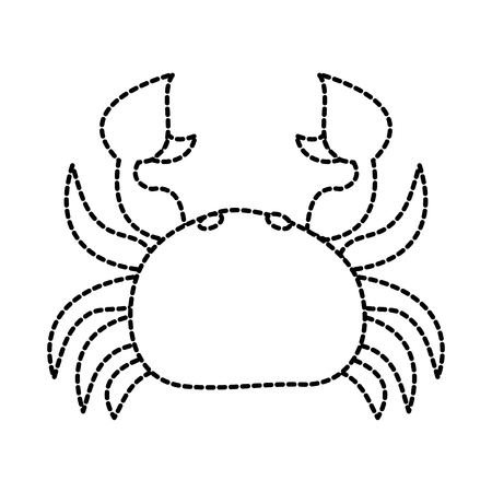 Sea wild life crab marine animal image vector illustration sticker design.