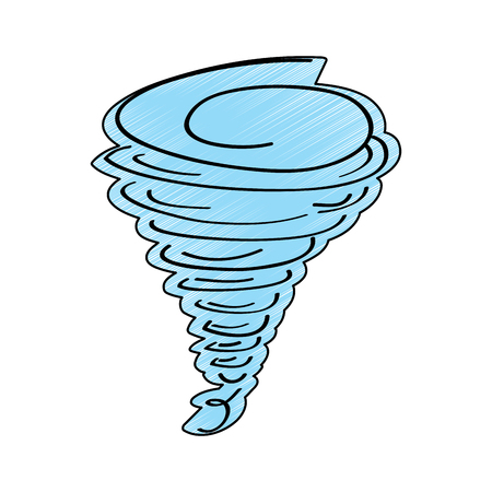 Tornado season wind storm weather image vector illustration drawing design color.