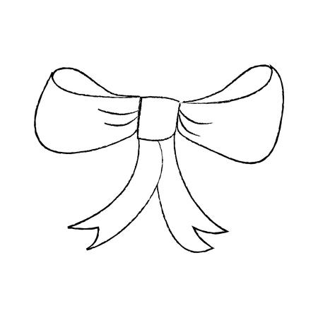 Diseño de ilustración de vector de decoración delicada pajarita rojo decoración atada Foto de archivo - 96072242