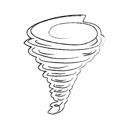 tornado season wind storm weather image vector illustration sketch design