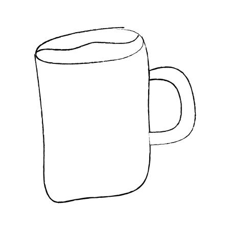 cartoon coffee mug drink beverage vector illustration sketch design