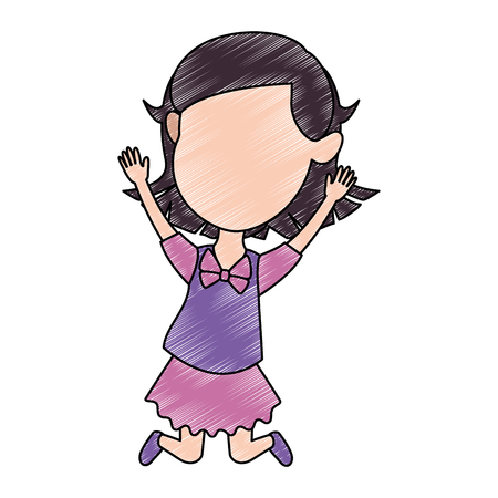 cute  little girl celebrating vector illustration design Illustration