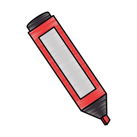 Permanent marker school supply icon vector illustration design.
