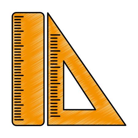 Rulers isolated icon vector illustration design. Vettoriali