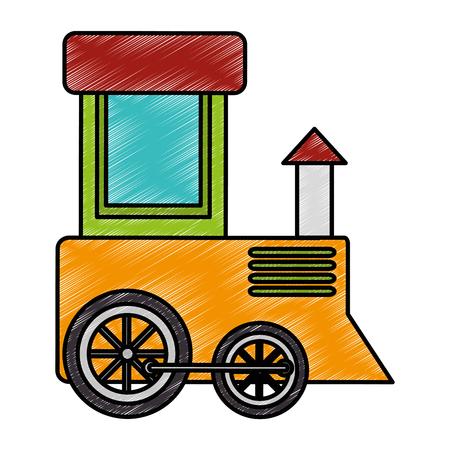 Cute train toy icon vector illustration design Ilustrace