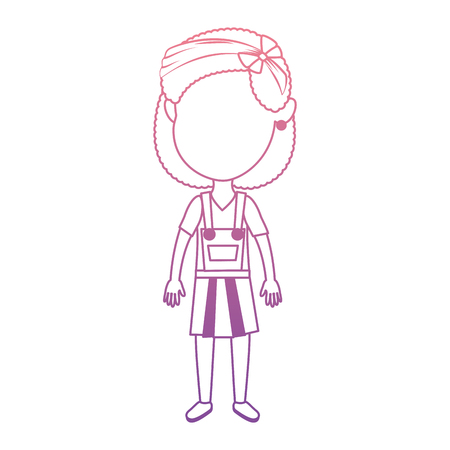 cute and little girl vector illustration design 일러스트