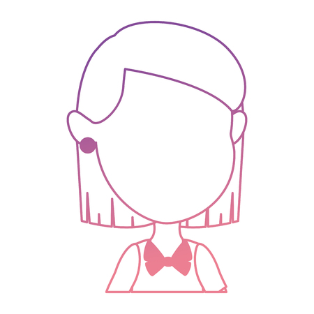 Cute and little girl vector illustration design Illustration
