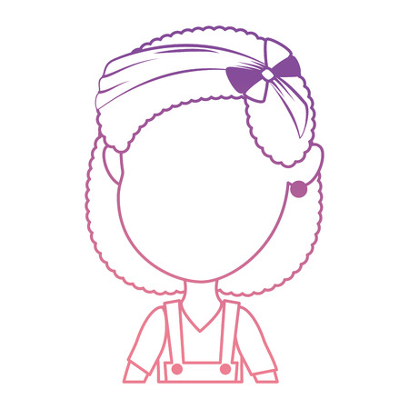 Cute and little girl vector illustration design 일러스트