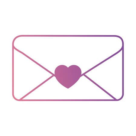 envelope with heart seal vector illustration design Stock Vector - 96117848